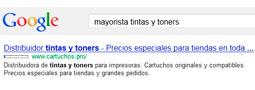 Cartuchos.pro en la posición nº 1 de Google