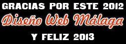 Gracias por este año 2012, Diseño Web Málaga os desea un próspero 2013