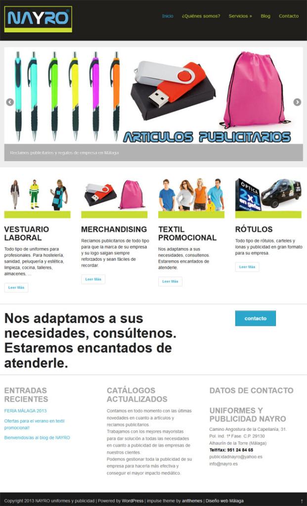 pagina web publicidad wordpress