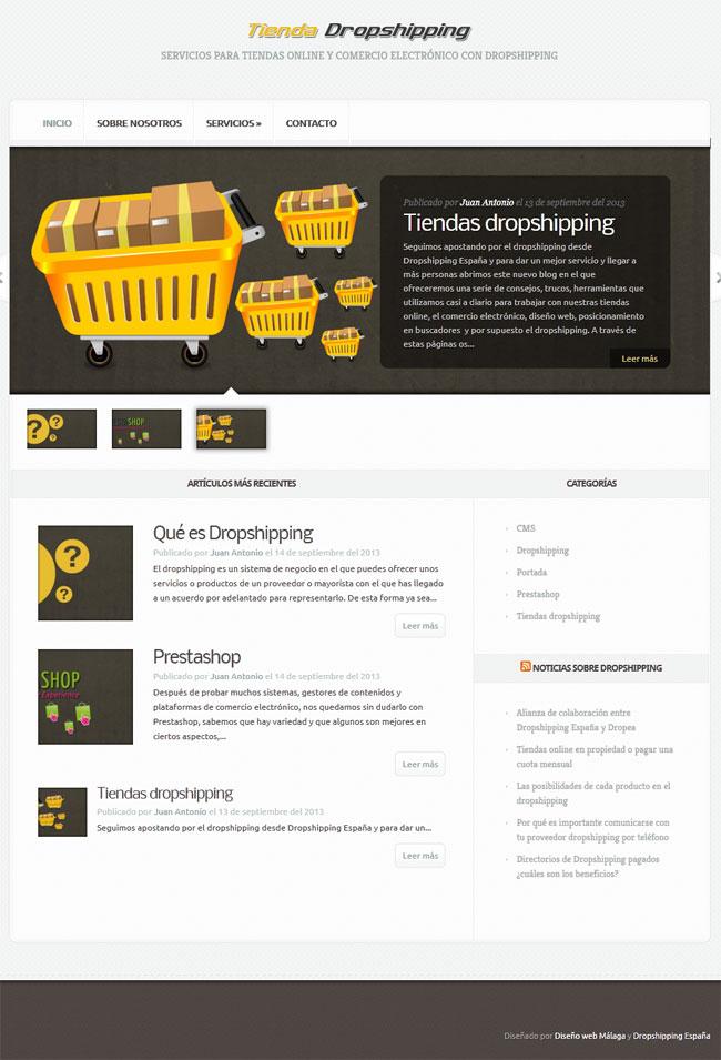 diseñar tienda para dropshipping