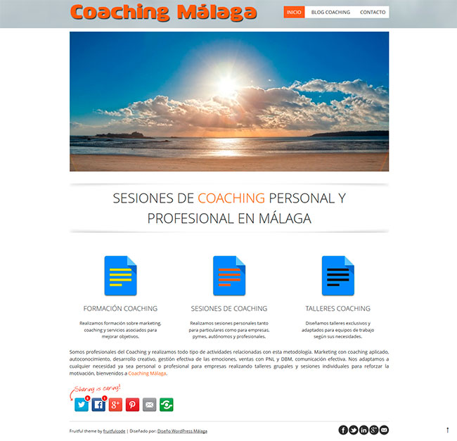 coaching blog en wordpress