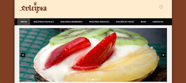 pagina web pasteleria