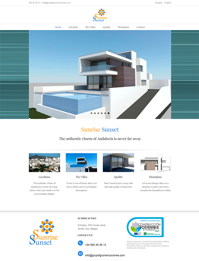 Diseño web para promoción inmobiliaria